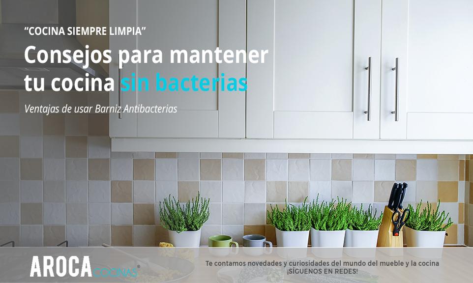 Consejos de Muebles Aroca para mantener una cocina limpiar y sin bacterias, usa el nuevo barniz antibacterias,