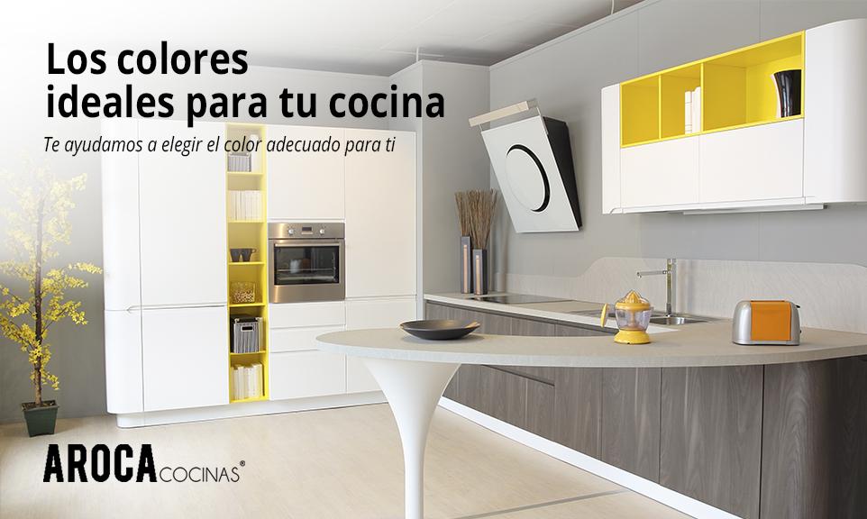 Los colores ideales para los muebles de tu cocina - Muebles Aroca